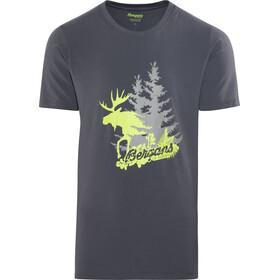Bergans Elk Tee Men Graphite/Spring Leaves/Solid Grey